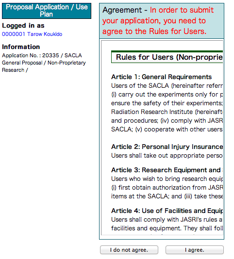 Proposal Submission Online Sacla User Information